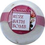 Koupelová koule růže s lístky bílá