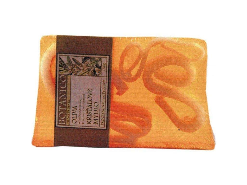 Mýdlo křišťálové s vruty oliva 150g