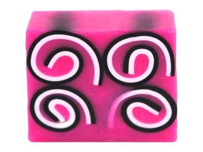 Glycerinové mýdlo Spirály z růží 100g