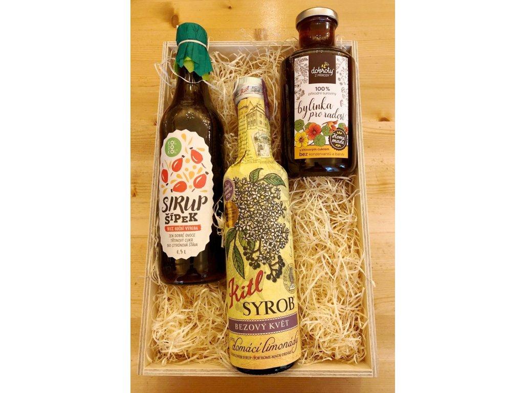 Dárková krabička pro výrobu letních limonád Bylinky
