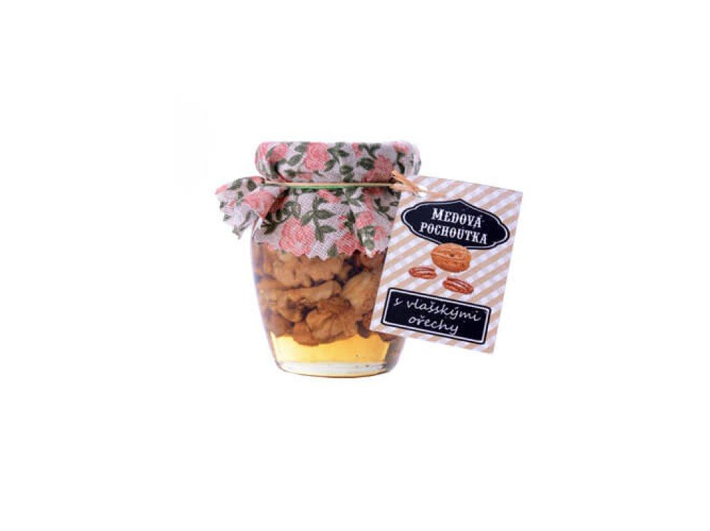 Medová pochoutka 145 ml  s vlašskými ořechy